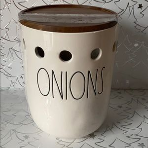 Rae Dunn Onions Large Canister
